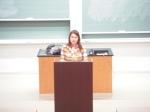 Lauren Speaking at Wabash College.